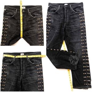 Citizens Of Humanity Jeans - Rare COH Gia Studded High Rise Ankle Straight Leg